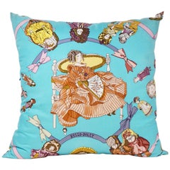 Hermès Custom Silk Scarf Pillow 'Hello Dolly' by Loic Dubigeon with Hermès Box