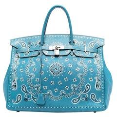 Hermès Customised Bandana Birkin 2012