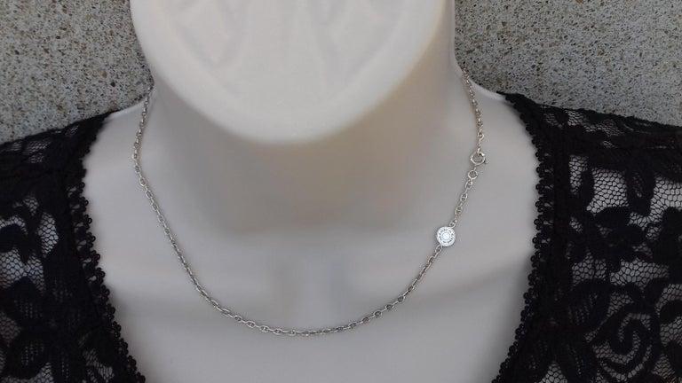 Hermès Cute Mini Chaine d'Ancre Clou de Selle Chain Necklace Silver RARE In Excellent Condition In ., FR