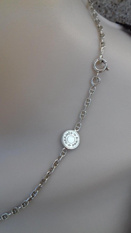 Women's Hermès Cute Mini Chaine d'Ancre Clou de Selle Chain Necklace Silver RARE
