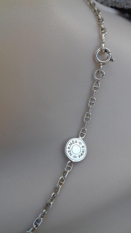 Hermès Cute Mini Chaine d'Ancre Clou de Selle Chain Necklace Silver RARE 1