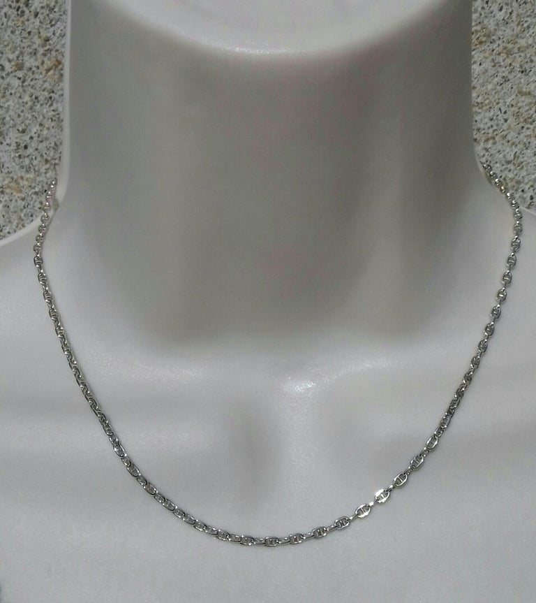Hermès Cute Mini Chaine d'Ancre Clou de Selle Chain Necklace Silver RARE 4