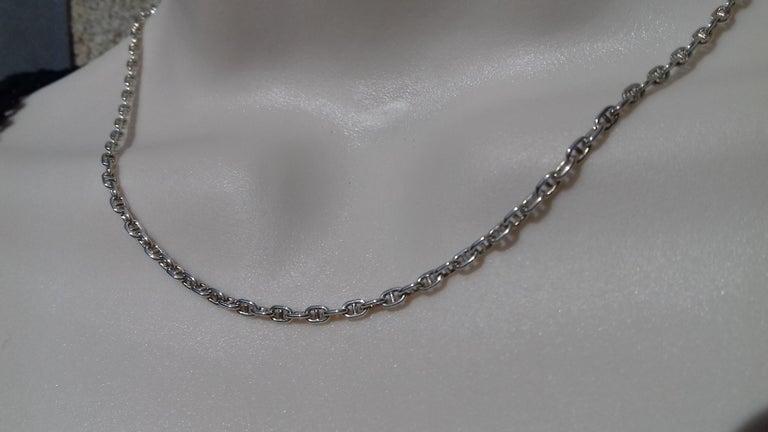 Hermès Cute Mini Chaine d'Ancre Clou de Selle Chain Necklace Silver RARE 5