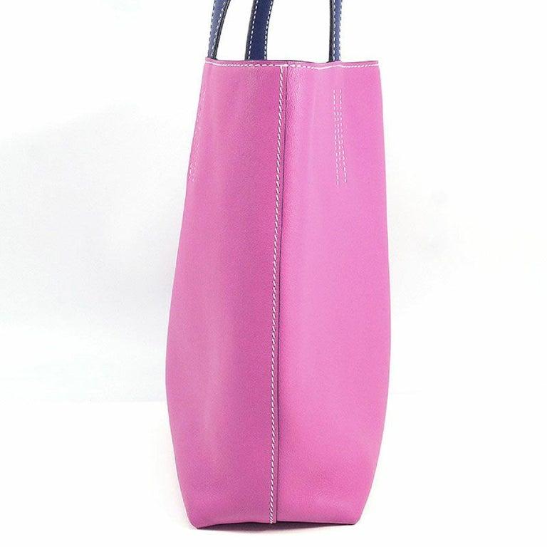 Purple HERMES D Engraved mark(2019 ) Double Sens28 Womens tote bag rose purple x blue s For Sale