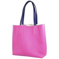 HERMES D Engraved mark(2019 ) Double Sens28 Womens tote bag rose purple x blue s