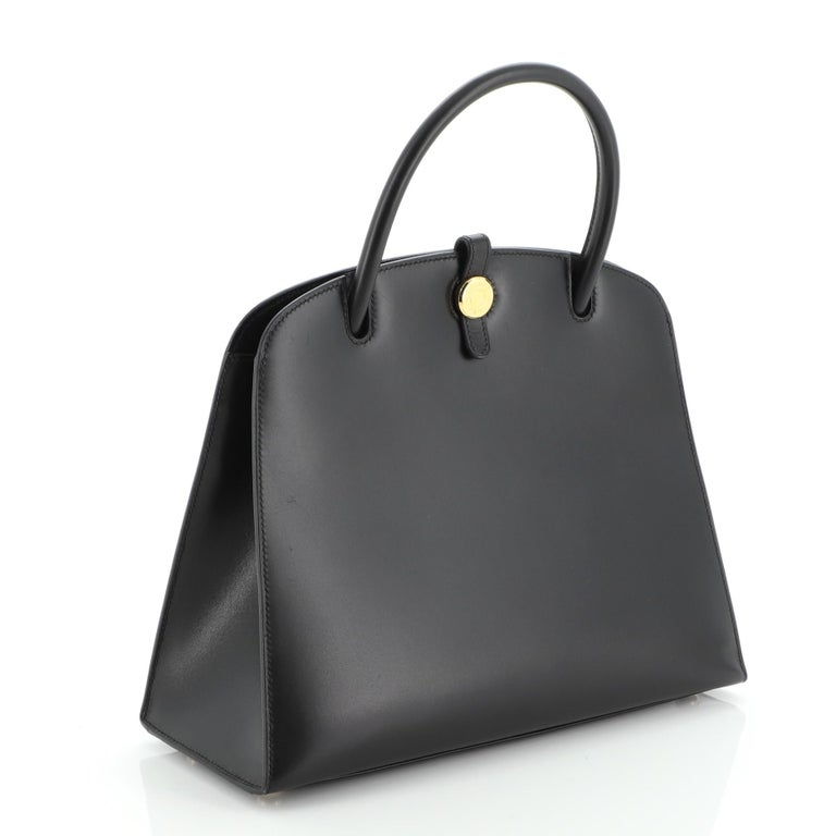 Hermes Dalvy Bag Box Calf 30 In Good Condition For Sale In New York, NY