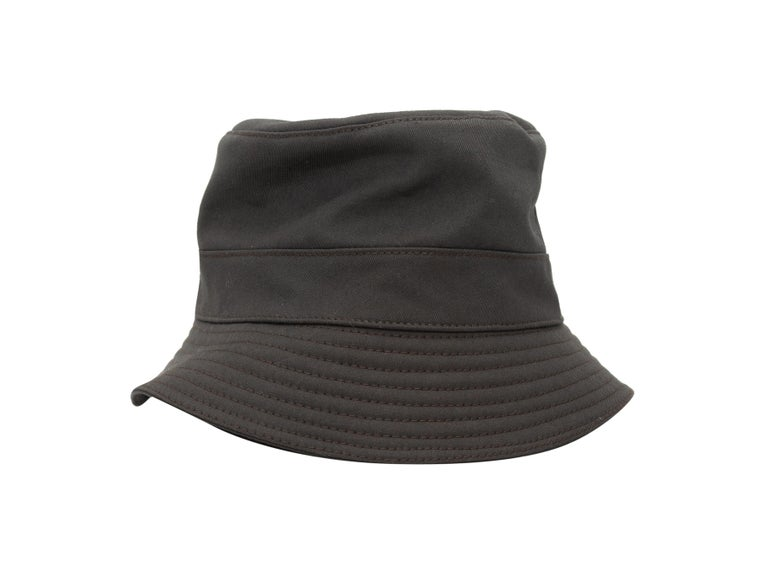 Black Hermes Dark Grey Bucket Hat For Sale
