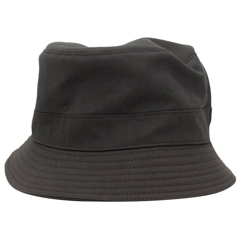 Hermes Dark Grey Bucket Hat For Sale