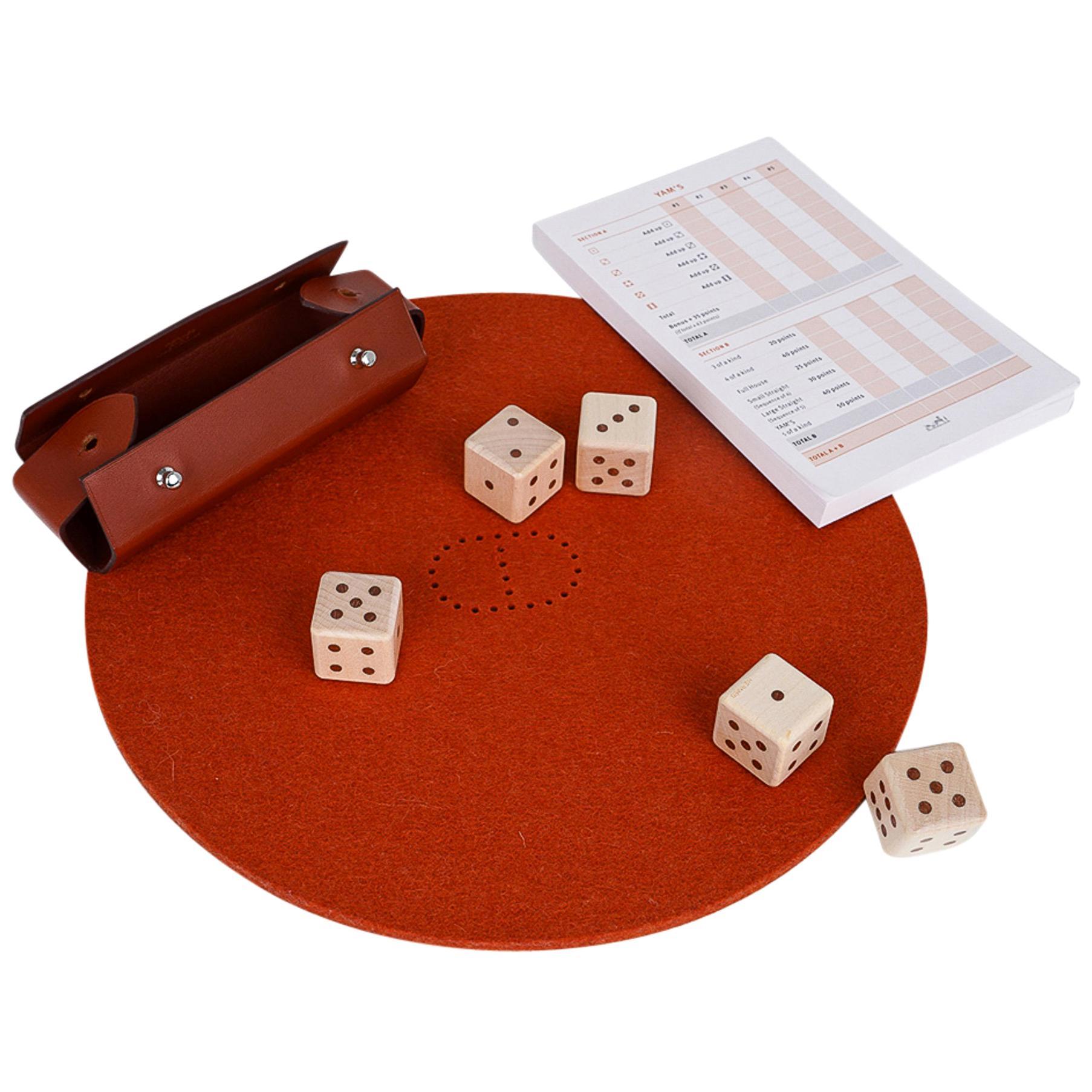 Hermes Declick Dice Game New w/ Box
