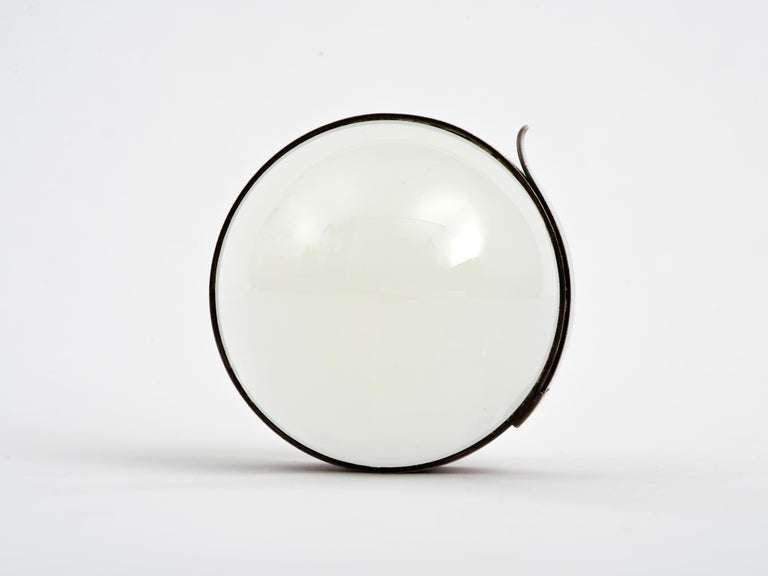 Modern Hermes Desktop Magnifier Paperweight in Silver, 1960s For Sale