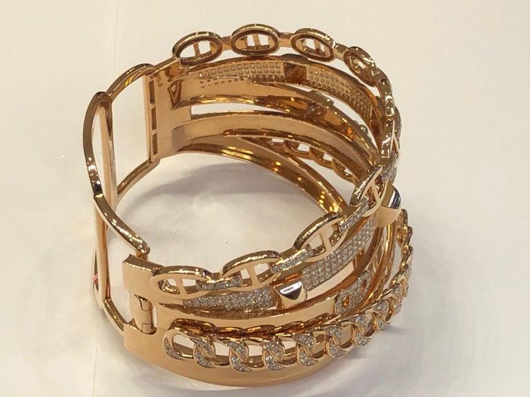 Hermes Diamond Alchimie Bracelet In Good Condition For Sale In New York, NY