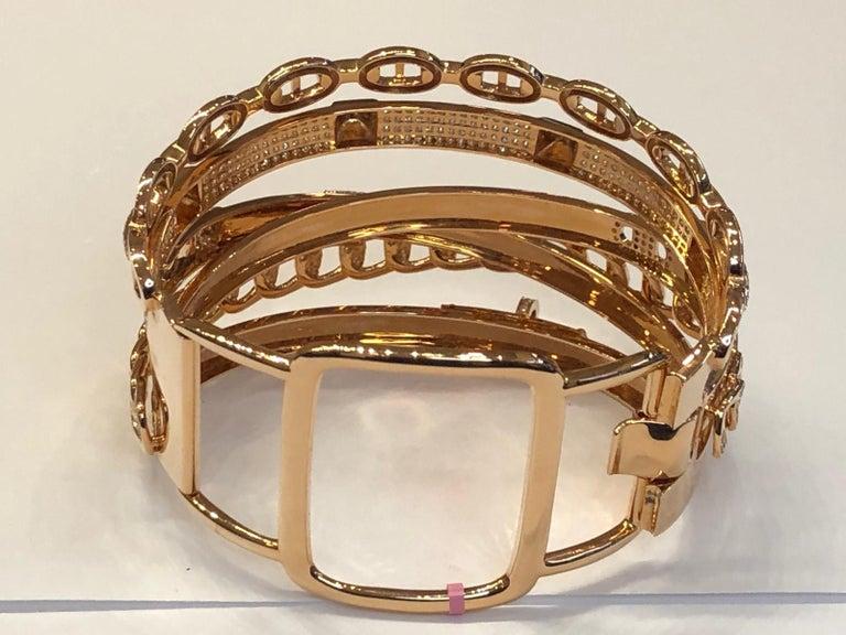 Women's Hermes Diamond Alchimie Bracelet For Sale