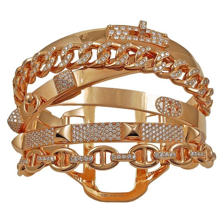 Hermes Diamond Alchimie Bracelet For Sale