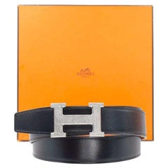 Hermes Diamond Belt Buckle in Stainless Steel