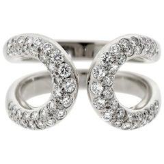 Hermes Diamond H White Gold Cocktail Ring