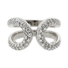 Hermes Diamond H White Gold Cocktail Ring