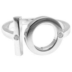 Hermès Diamond Number 10 White Gold Band Ring