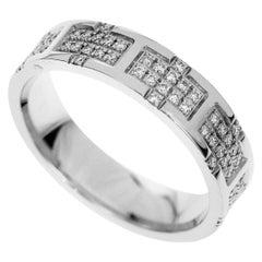 Hermes Diamonds 18 Karat White Gold Kilim Ring