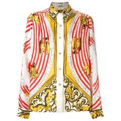 Hermes Dies et Hores Silk Shirt 1984