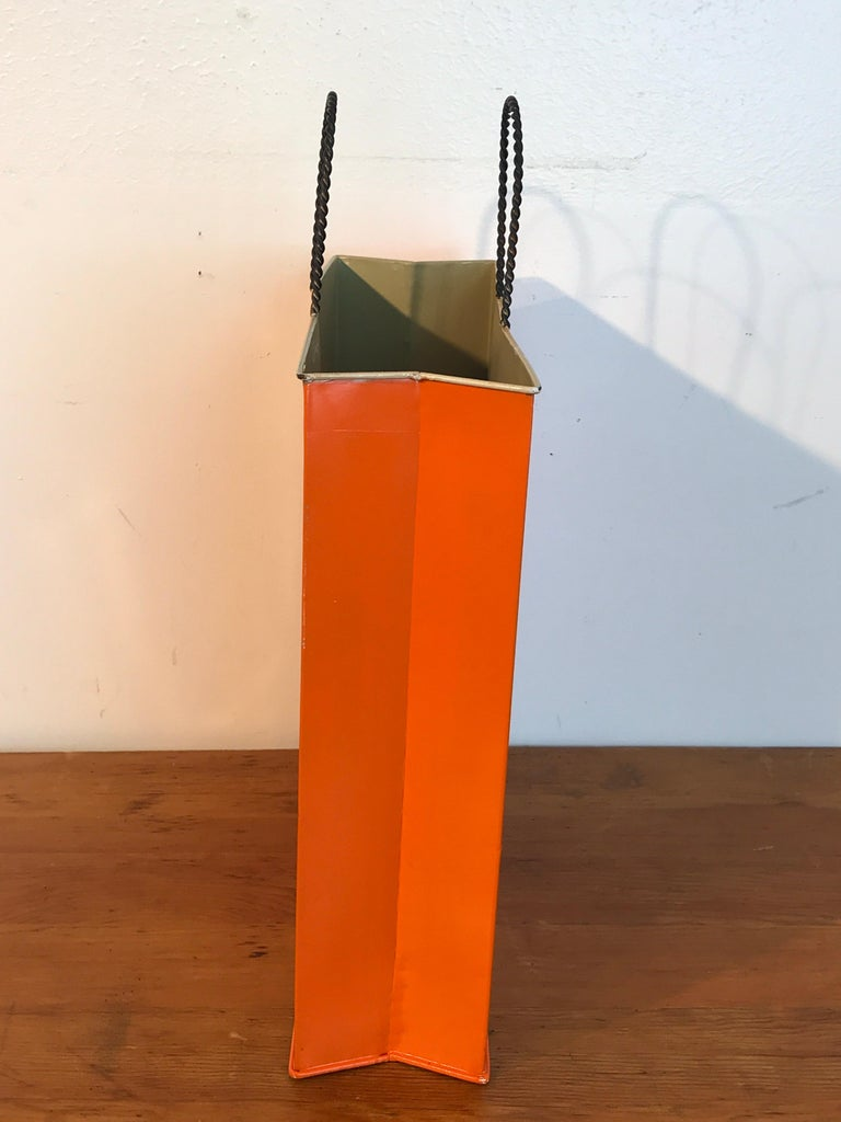 20th Century Hermès Display/Prop Tole Shopping Bag For Sale