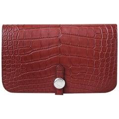 Hermès Dogon Duo Matte Alligator Wallet