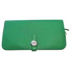Hermes Dogon Wallet in Green Togo Leather