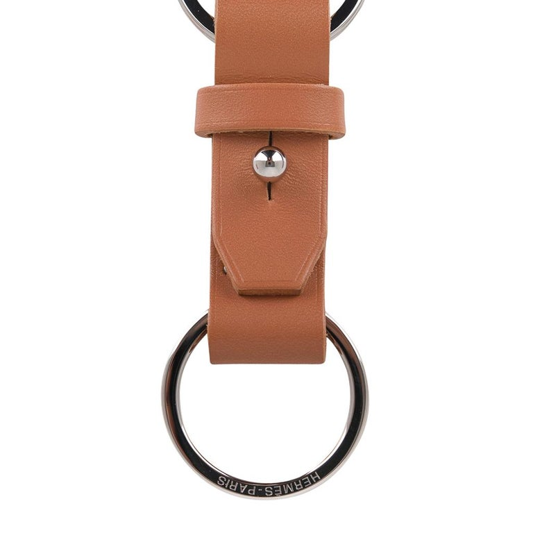 Hermes Double Jeu Voiturier Valet Key Ring New / Box In New Condition For Sale In Miami, FL