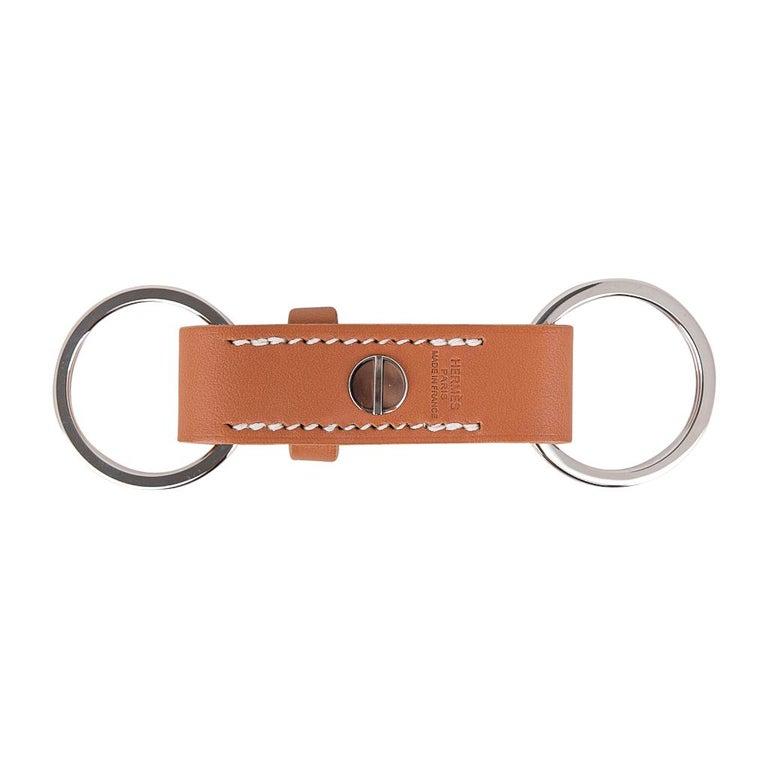 Women's or Men's Hermes Double Jeu Voiturier Valet Key Ring New / Box For Sale