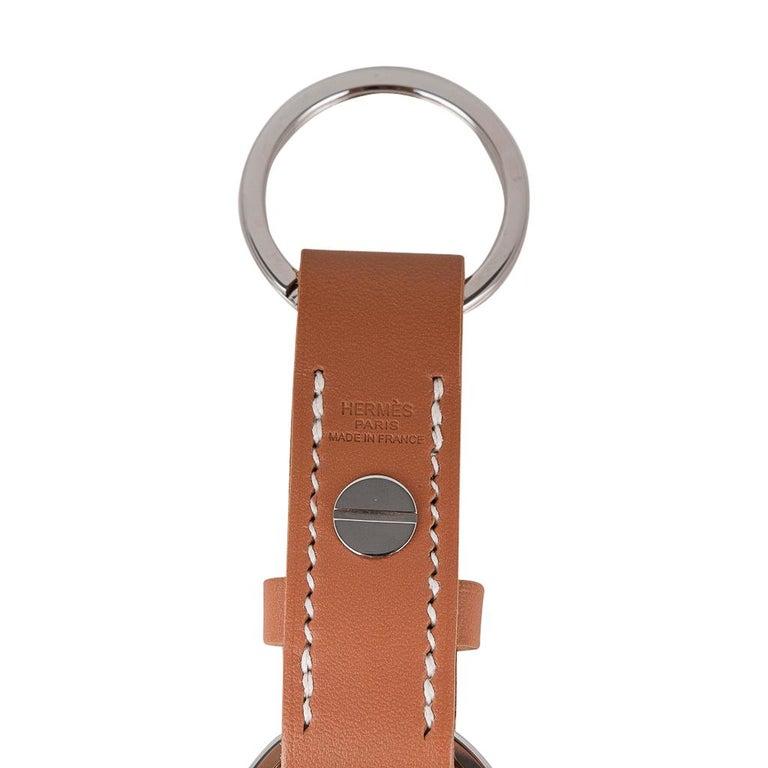 Hermes Double Jeu Voiturier Valet Key Ring New / Box For Sale 2