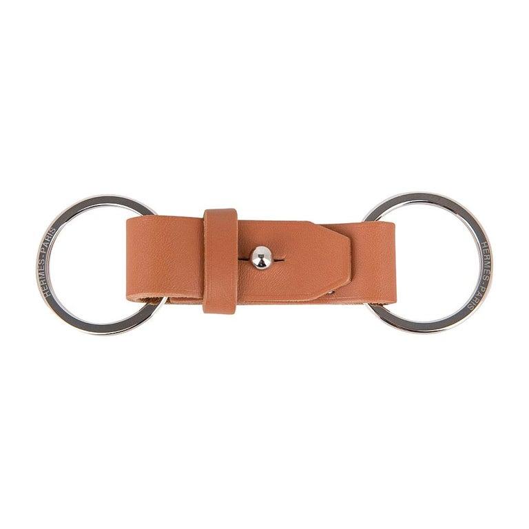 Hermes Double Jeu Voiturier Valet Key Ring New / Box For Sale