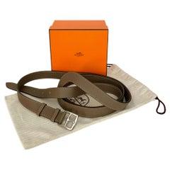 Hermès Double Tour Circuit Étoupe Togo Leather Belt