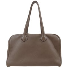 Hermès dove grey shoulder bag