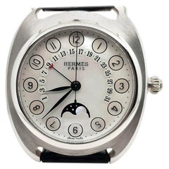 Hermès Dressage Platinum Limited Retrograde Mother Pearl Moon Haute Horlogerie