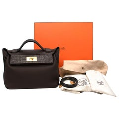 Hermes Ebene Togo & Alligator  24/24 29 Bag GHW