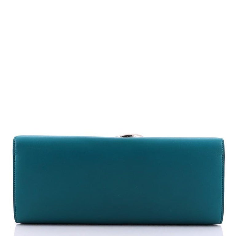 Hermes Egee Clutch Tadelakt In Good Condition For Sale In New York, NY