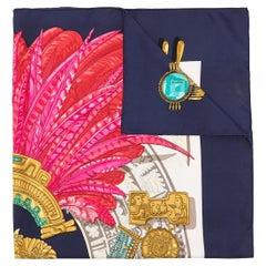 Hermes Egyptian Feathers Silk Scarf