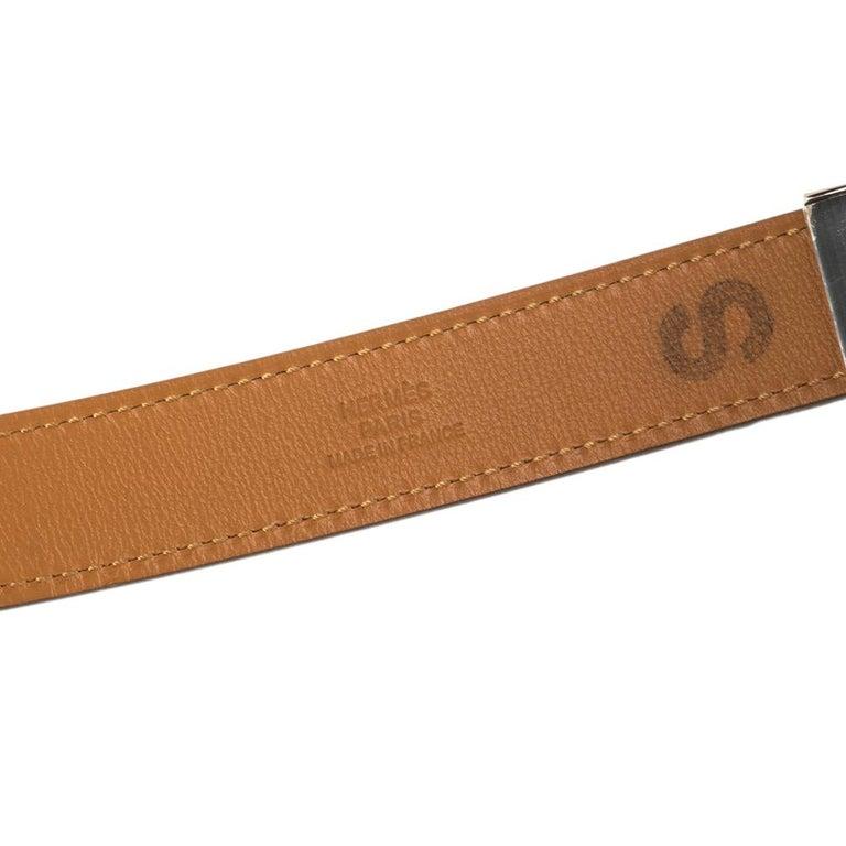 Women's Hermes Electric Blue Veau Epsom Leather Charniere Belt S For Sale