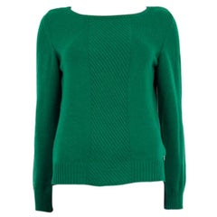 HERMES emerald green cashmere Sweater 40 M