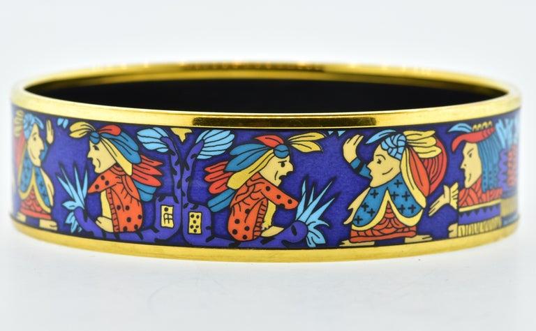 Contemporary Hermes Enamel Bangle Bracelet For Sale