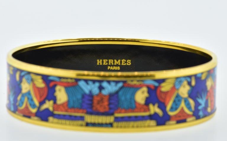 Hermes Enamel Bangle Bracelet In Excellent Condition For Sale In Aspen, CO