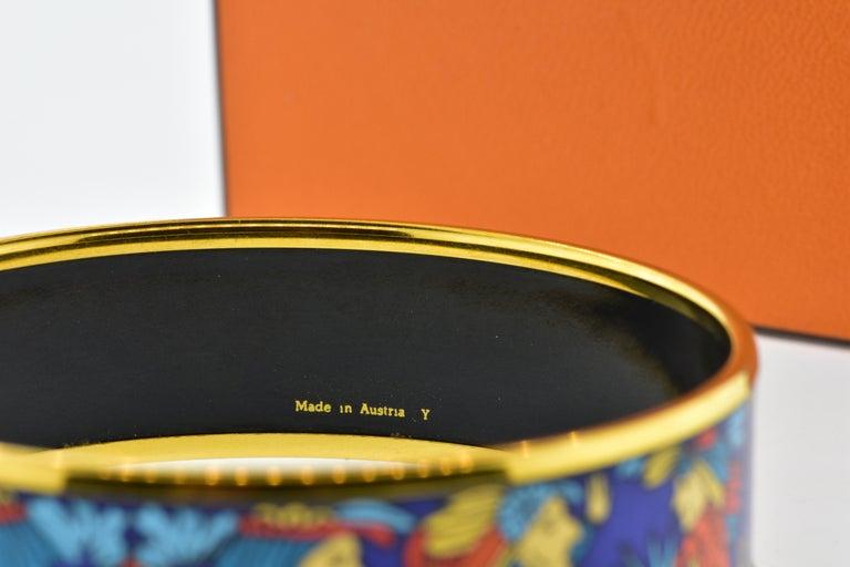 Hermes Enamel Bangle Bracelet For Sale 1