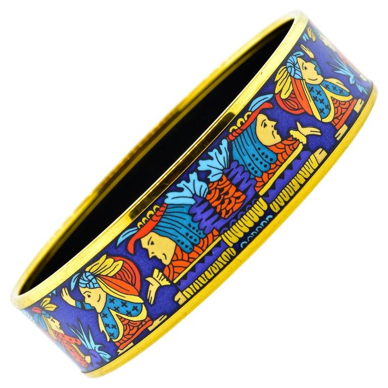 Hermes Enamel Bangle Bracelet For Sale