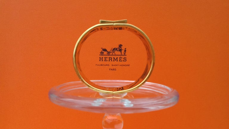 Women's Hermès Enamel Bracelet Clic Clac Version Camels and Palm Trees Ghw PM For Sale