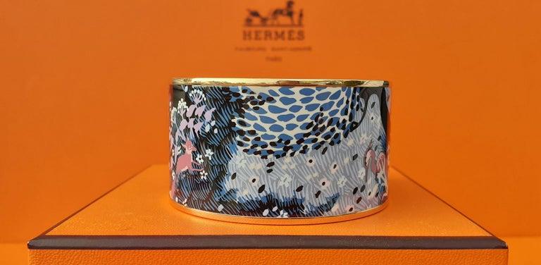 Women's Hermès Enamel Bracelet Dans Un Jardin Anglais Shirley Rosé Ghw Size 65 GRAIL For Sale
