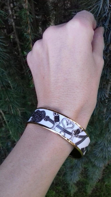 Hermès Enamel Bracelet Festival des Amazones Rose Gold HDW Size 62 6
