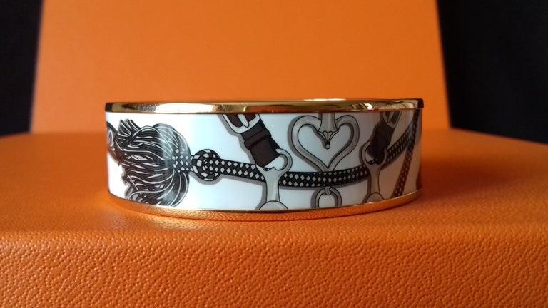 Women's Hermès Enamel Bracelet Festival des Amazones Rose Gold HDW Size 62