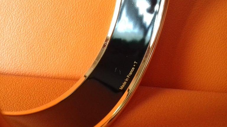 Hermès Enamel Bracelet Festival des Amazones Rose Gold HDW Size 62 4