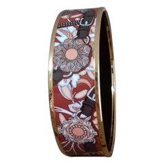 Hermès Enamel Bracelet Festival des Amazones Rose Gold HDW Size 62