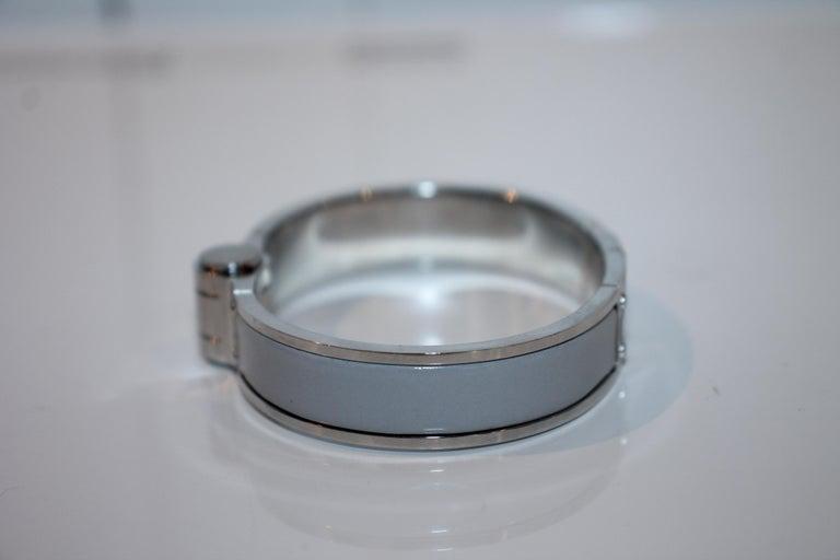 Women's or Men's Hermes Enamel Hinged Bracelet For Sale