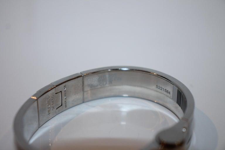 Hermes Enamel Hinged Bracelet For Sale 1
